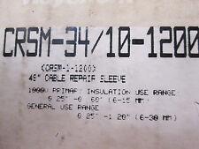 CRSM-34/10-1200, Raychem, 1/C wraparound heat shrinkable repair sleeve (1000V)