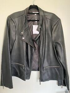 New Wayne Cooper Faux Leather Jacket, Size 20