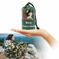 Camouflage Wasserdichter wiederverwendbarer Notschlafsack Thermal Survival DE