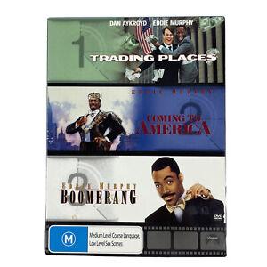 Trading Places + Coming To America + Boomerang 3 Disc Set DVD Eddie Murphy GOOD