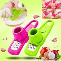 2PCS Multifunction Stainless Steel Press Garlic Slicer Cutter Shredder Kitchen L