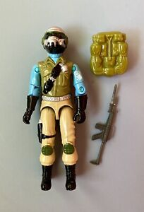 Vintage 1987 GI Joe STEEL BRIGADE Figure RARE Mail In Gun Backpack Complete