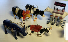 """Cow Parade ornaments. Five ornaments, about 3"""" each"""