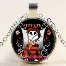 Nightmare Before Christmas Cabochon silver Glass Chain Pendant Necklace #3785