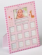 Walther Babygalerie Bilderrahmen Fotorahmen Baby 1. Jahr rosa 13-fach 22x28 cm
