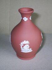 Wedgwood Jasperware Terracotta Bottle Vase 1950s Early Design
