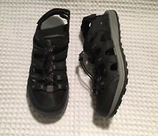 MERRELL J276559C Sable Bungee Strap Leather Hiking Sport Sandals $100 Black 11