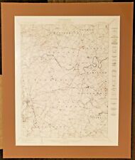 Gettysburg Pennsylvania 1929 Topographic Map Matted - Excellent Condition