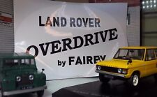 Land Rover Series 2 2a 2b 3 Early Type Overdrive By Fairey Rear Tub Decal Badge
