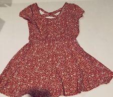 LA HEARTS Dress Sun Pink Coral Floral Size S Short Open Back