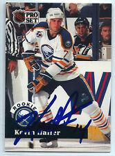 Kevin Haller signed 1991-92 Pro Set hockey card Buffalo Sabres autograph #525