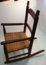 """Antique Child Size Doll Rocking Chair 23"""" Tall X 20"""" Deep X 14"""" Wide"""