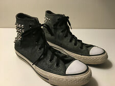 Converse All Stars High Top Gray Suede silver studs ladies U.S 6 UK 4 EUR 36.5