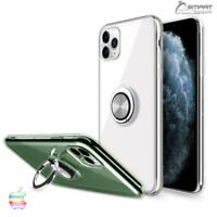 Clear Finger Ring Stand Tpu Gel Case Cover For iPhone11 / iPhone 11 Pro Max