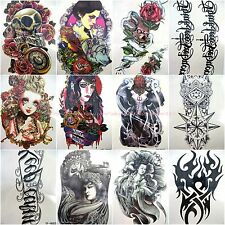 10 sheets large arm back check thigh leg temporary tattoo party favor(code a1-2)