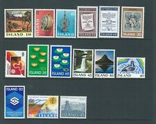 Iceland 1976/7 UMM Complete Years sg 544/58 Cat £21+