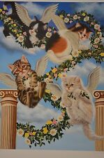 HEAVEN SENT BY HIGGINS BOND #173/950 HAND SIGNED ORIGINAL LITHO FOR CAT LOVERS