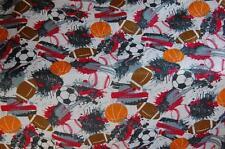 Morgan Kids Twin Size Flat Sheet Sports Balls Polyester Paint Splatters Crafter