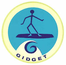 Gidget Surfing Vintage 1960's Style Travel Decal