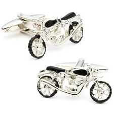 Vintage Motorcycle Vehicle Novelty Cufflinks + Box & Cleaner