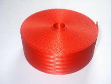 Car Seat Belt Webbing Roll Red Fabric Strap 10 Metres