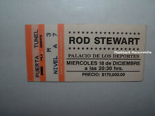 ROD STEWART Concert Ticket Stub 1991 MEXICO CITY SPORTS PALACE Very Rare FACES