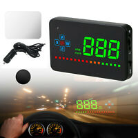 Car Digital GPS Speedometer Head Up Display Overspeed MPH/KM Tired Warning Alarm