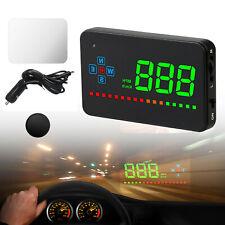 Car Digital Gps Speedometer Head Up Display Overspeed Mph/Km Tired Warning Alarm