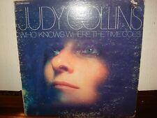 JUDY COLLINS WHO KNOWS WHERE THE TIME GOES LP (1968) ELEKTRA EKS-74033 FOLK VG+
