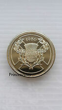 1986*UNC*COMMONWEALTH GAMES THISTLE SCOTLAND £2 TWO POUND COIN