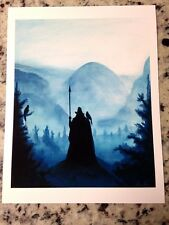 Germanic Viking Norse Pagan God Odin Raven Painting 8x10  Art Print