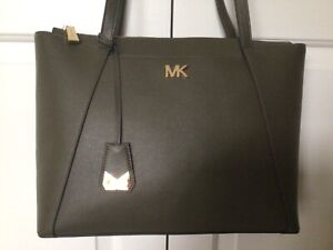 Michael Kors Large Zipped Tote, Olive Green, SUPERB CONDITION with Receipt