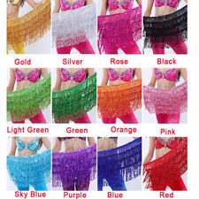 US Professional Belly Dance Costume Hip Skirt Performance Dance clothing beginer