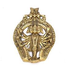 "Brass Wall Hanging Panchmukhi Hanuman Idol Hanging Wall Decor For Diwali 5"""