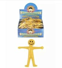 25x Fun Stretchy Men Smiley Party Bag Filler Birthday Parties Loot Kids Toy UK