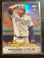 "Fernando Tatis Jr RC 2019 Topps Chrome FBC-15 ""Family Business"" San Diego Padres"