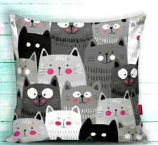 "2 Pieces 18""x18"" Decorative Pillow Case  - Funny Kittens Theme"
