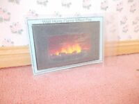 WALL HUNG  FLAME EFFECT FIRE FOR A DOLLS HOUSE