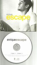 ENRIQUE IGLESIAS Escape w/SPANISH TRK EUROPE PROMO DJ CD Single USA seller 2002