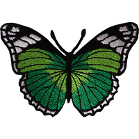 Green Butterfly Patch Iron Sew On Jeans Jacket Bag Dress Shirt Embroidered Badge