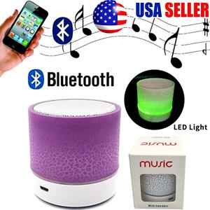 Bocinas Bluetooth Parlantes Portables Recargables Altavoz Portatil con Luz Led