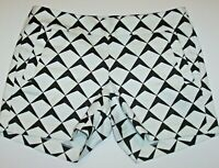 J. Crew City Fit Shorts Women's 4 White/Black Patterned Cotton Stretch Chino