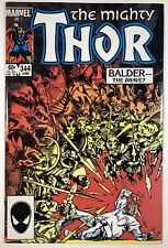 THOR #344, NM+ 9.6  1ST MALEKITH THE ACCURSED, Balder, HIGH GRADE COPPER AGE KEY
