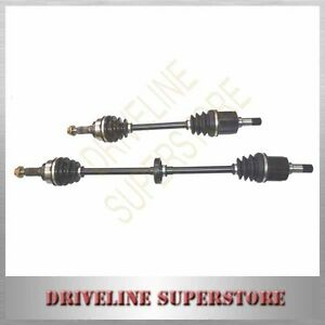 A PAIR OF NEW CV JOINT DRIVE SHAFTS FOR FORD FESTIVA 1.3L WA AUTO 1987-1992