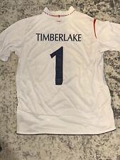 England Football Nat'l Team Personalized Game Jersey Gifted To Justin Timberlake