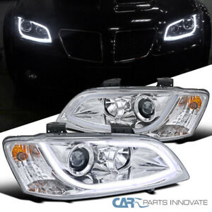 Fit 08-09 Pontiac G8 Clear LED Strip Projector Headlights Head Lamps Left+Right