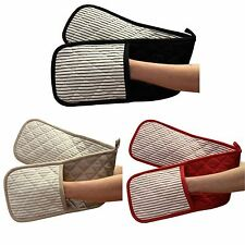 Contemporary Double 100% Cotton Oven Mitts and Pot Holders