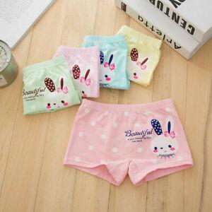 5 Pack Briefs Cotton Knickers Girls Boxer Shorts Underwear Age 3 4 5 6 7 8 9 10Y