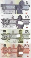 2017 SET - Canada FANTASY GIRL SEXY Notes * $5, $10, $20 and $50 Set - POLYMER