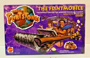 1993 Mattel The Flintstones The Flintmobile Car New in Box